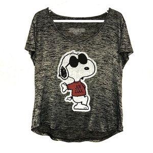 ⭐️3/$30 Peanuts Snoopy Joe Cool tee. Size XL
